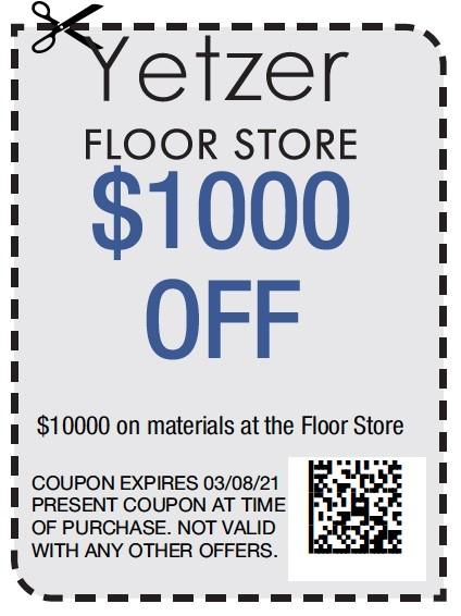 Yetzer Floor Store $1000   Yetzer Home Store