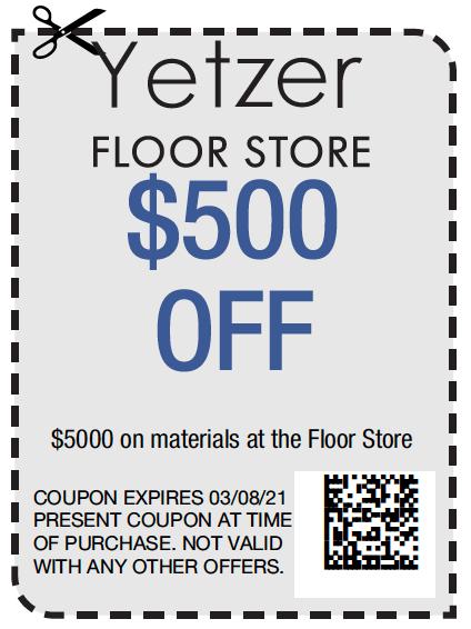 Yetzer Floor Store $500   Yetzer Home Store