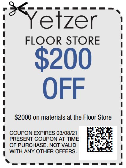 Yetzer Floor Store $200   Yetzer Home Store