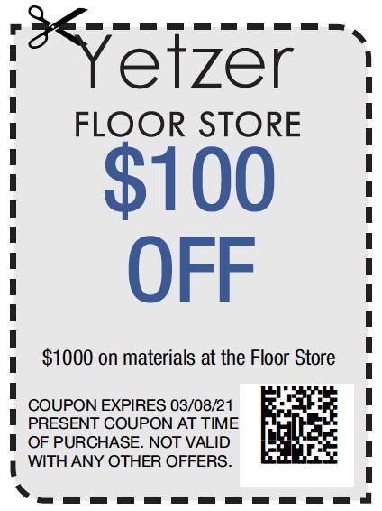 Yetzer Floor Store $100 off   Yetzer Home Store
